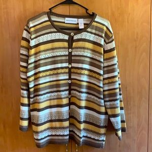 Alfred Dunner L Knit style button up cardigan